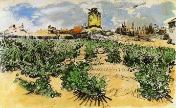 Gogh Canvas - The Mill of Alphonse Daudet at Fontevieille Vincent van Gogh