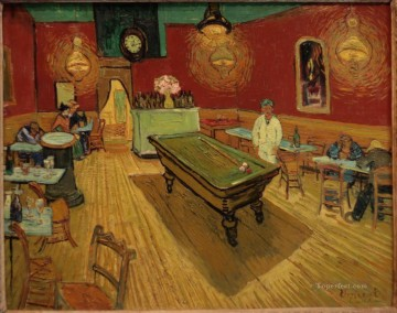 Vincent Van Gogh Painting - The Night Cafe dark Vincent van Gogh