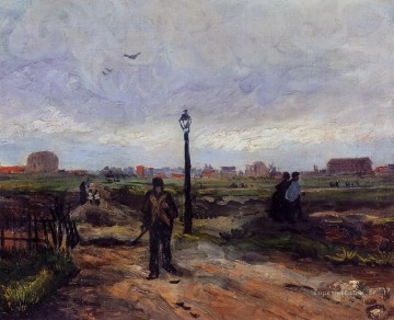 Paris Art - The Outskirts of Paris Vincent van Gogh