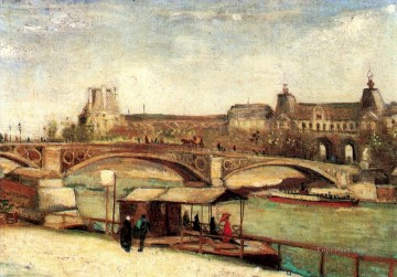 The Pont du Carrousel and the Louvre Vincent van Gogh Oil Paintings
