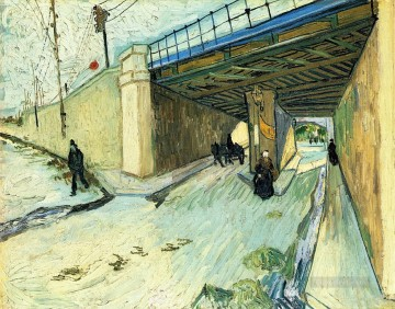 The Railway Bridge over Avenue Montmajour Vincent van Gogh Oil Paintings