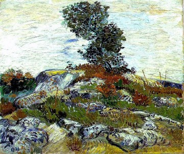 The Rocks with Oak tree Vincent van Gogh Oil Paintings