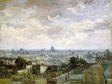 Paris Painting - The Roofs of Paris Vincent van Gogh