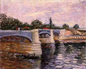 Vincent Van Gogh Painting - The Seine with the Pont de la Grande Jette Vincent van Gogh