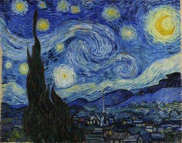 The Starry Night Vincent van Gogh Decor Art