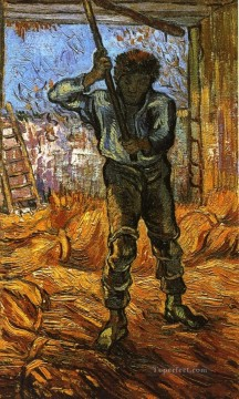 The Thresher after Millet Vincent van Gogh Oil Paintings