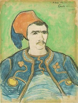 Vincent Van Gogh Painting - The Zouave Half Length Vincent van Gogh
