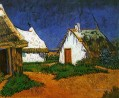 Three White Cottages in Saintes Maries Vincent van Gogh