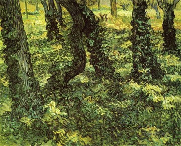 Vincent Van Gogh Painting - Trunks of Trees with Ivy Vincent van Gogh