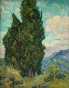 Two Cypresses 2 Vincent van Gogh