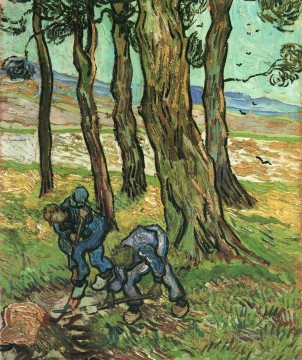 Vincent Van Gogh Painting - Two Diggers Among Trees Vincent van Gogh