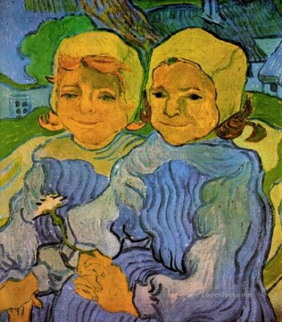 Girls Canvas - Two Little Girls Vincent van Gogh