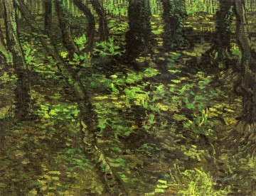 Undergrowth with Ivy Vincent van Gogh Oil Paintings