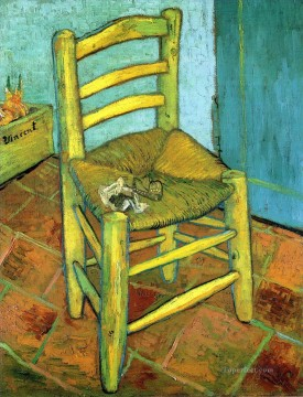 vincent van gogh Painting - Van Gogh s Chair Vincent van Gogh