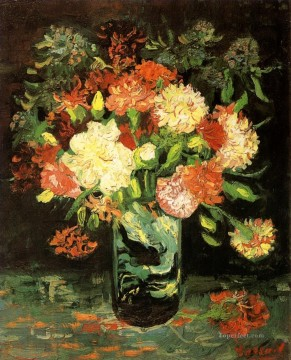 Carnations Art - Vase with Carnations 2 Vincent van Gogh
