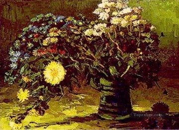 dai Painting - Vase with Daisies Vincent van Gogh