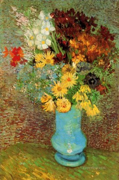 Vase with Daisies and Anemones Vincent van Gogh Oil Paintings
