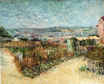 Vegetable Gardens in Montmartre Vincent van Gogh Oil Paintings