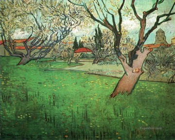 blossom Painting - View of Arles with Trees in Blossom Vincent van Gogh