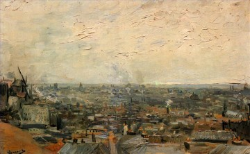 PARIS Painting - View of Paris from Montmartre Vincent van Gogh