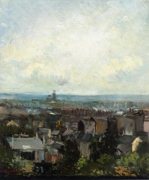 View of Paris from near Montmartre Vincent van Gogh Oil Paintings