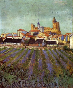 Sainte Painting - View of Saintes Maries Vincent van Gogh