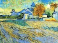 View of the Church of Saint Paul de Mausole Vincent van Gogh