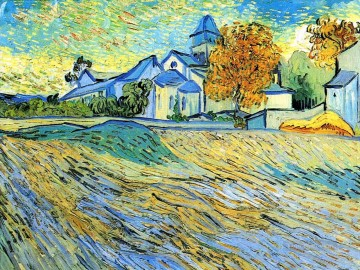 View of the Church of Saint Paul de Mausole Vincent van Gogh Oil Paintings