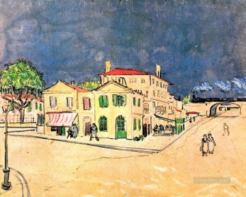 vincent van gogh Painting - Vincent s House in Arles The Yellow House Vincent van Gogh