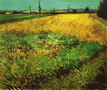 Wheat Field with the Alpilles Foothills in the Background Vincent van Gogh Oil Paintings