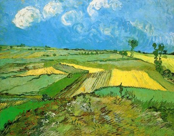 Wheat Fields at Auvers Under Clouded Sky Vincent van Gogh Oil Paintings