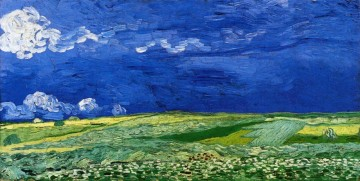 Vincent Van Gogh Painting - Wheatfields under Thunderclouds Vincent van Gogh
