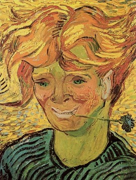 Young Man with Cornflower Vincent van Gogh Oil Paintings