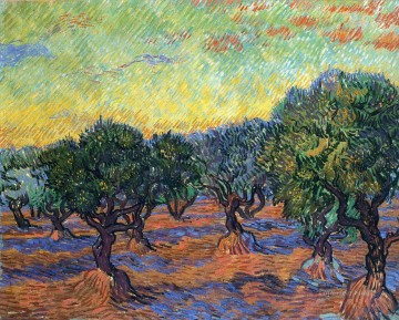 Vincent Van Gogh Painting - live Grove Orange Sky Vincent van Gogh