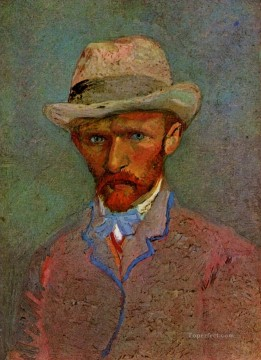 self portrait with gray felt hat 1887 Vincent van Gogh Oil Paintings