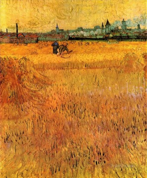 Vincent Van Gogh Painting - Arles View from the Wheat Fields Vincent van Gogh