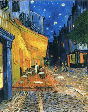 Cafe Terrace Place du Forum Arles Vincent van Gogh Oil Paintings