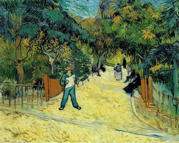 Entrance to the Public Garden in Arles Vincent van Gogh Oil Paintings