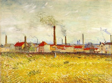 Gogh Canvas - Factories at Asnieres Seen from the Quai de Clichy Vincent van Gogh