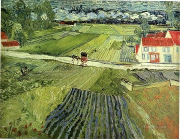 Landscape with Carriage and Train Vincent van Gogh Oil Paintings
