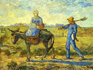 Vincent Van Gogh Painting - Morning Going to Work Vincent van Gogh
