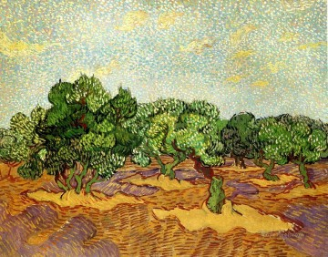Olive Grove Pale Blue Sky Vincent van Gogh Oil Paintings