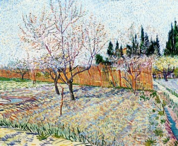 Vincent Van Gogh Painting - Orchard with Peach Trees in Blossom Vincent van Gogh