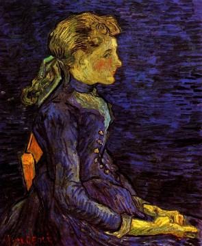 Portrait of Adeline Ravoux Vincent van Gogh Oil Paintings