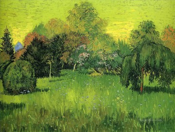 Vincent Van Gogh Painting - Public Park with Weeping Willow The Poet s Garden I Vincent van Gogh