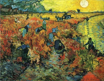 Gogh Canvas - Red Vineyards at Arles Vincent van Gogh
