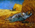 Rest Work after Millet Vincent van Gogh