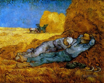 Vincent Van Gogh Painting - Rest Work after Millet Vincent van Gogh