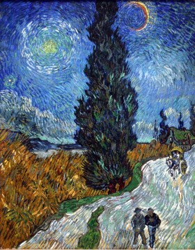 Road with Cypresses 3 Vincent van Gogh Oil Paintings