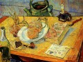 Still Life with Drawing Board Pipe Onions and Sealing Wax Vincent van Gogh
